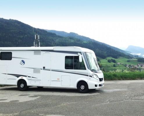 Wohnmobil in den Alpen