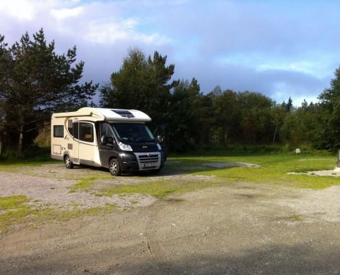 Wohnmobil in Schweden Campingplatz