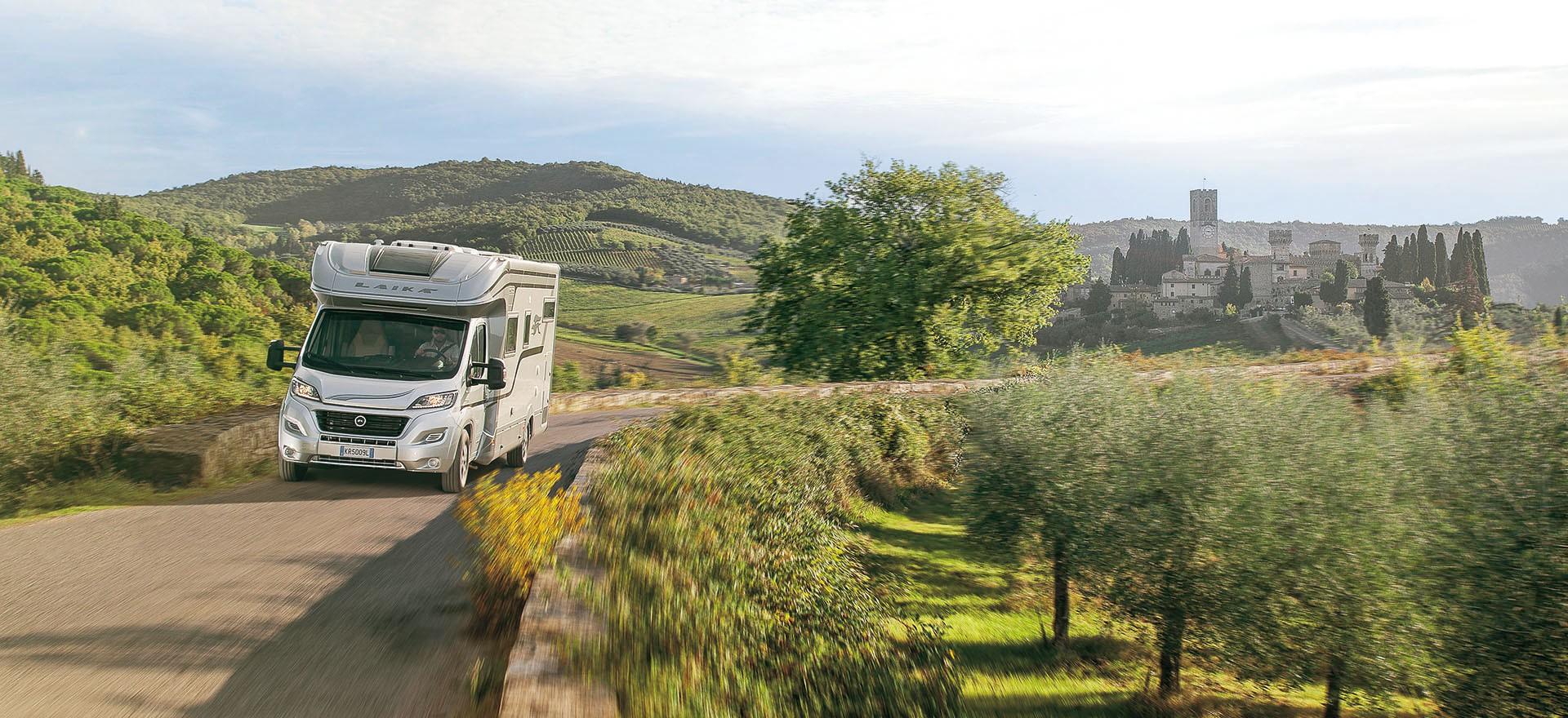 Wohnmobil in der Toskana
