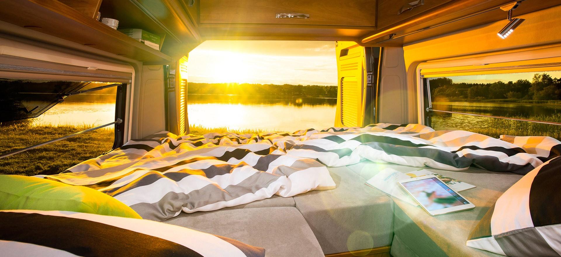 Sonnenaufgang im Wohnmobil