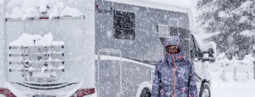 Wohnmobil im Winter