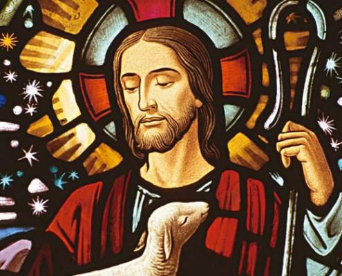 Jesus in einer Kirche
