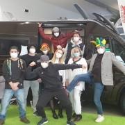 Wohnmobile Erlangen: Team an Fasching