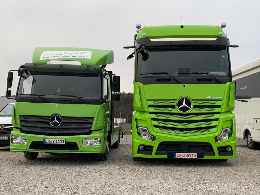 Grüner Truck